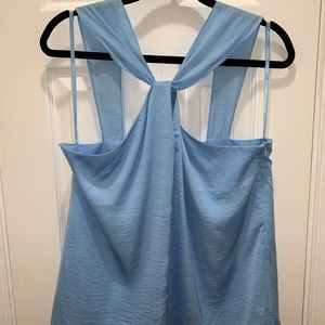 Light Blue Silk Top